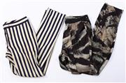 Sale 8910F - Lot 60 - Two pairs of Witchery printed pants, sizes 8 and 10