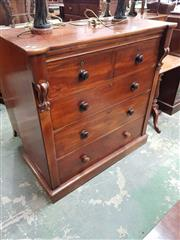 Sale 8917 - Lot 1091 - Late 19th Century Cedar Chest of Drawers, possibly of Germanic origin, with two short and three long drawers, on a plinth base