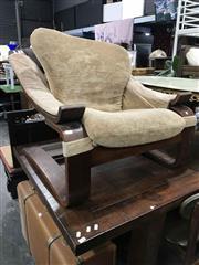 Sale 8934 - Lot 1063 - Vintage Bentwood Lounge Chair