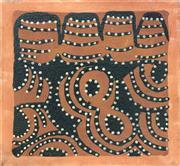 Sale 8932 - Lot 2008 - Sade Carrington Purnululu - Bungle Bungles natural pigments, sand and PVC fixative, 45 x 45 cm