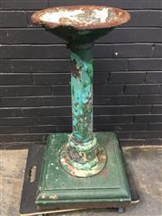 Sale 9056 - Lot 1093 - Vinatge Cast Metal Water Bubbler (H97 x D53cm)