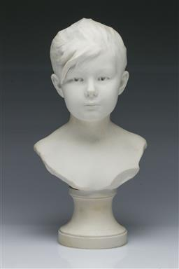 Sale 9093P - Lot 92 - Sevres Bisque Bust of a Young Woman (H: 24.5 cm)