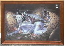 Sale 9111 - Lot 2094 - Dorian Cleavenger Dragon Lady, 2002 gouache, 58 x 83cm, signed and dated lower rifht -