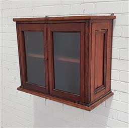 Sale 9129 - Lot 1076 - Timber 2 door wall mount cabinet (h63 x w74 x d38cm)