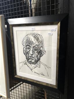 Sale 9139 - Lot 2011 - Desiderius Orban (1884 - 1986) - Self Portrait 30 x 24 cm (frame: 45 x 40 x 3 cm)