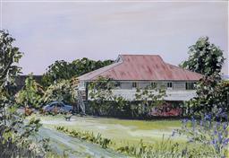 Sale 9191A - Lot 5027 - JOHN KONSTANT (1947 - ) Colonial Homestead, QLD oil on board 29 x 39 cm (frame: 61 x 71 x 4 cm) signed