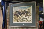 Sale 8323A - Lot 27 - Hugh Sawrey (1919 - 1999) - First Time Round, 1976 47 x 56.5cm
