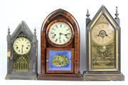 Sale 8384 - Lot 62 - Steeple Clocks (3)