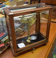 Sale 8550 - Lot 1014 - Mahogany Cased Scientific Balance Scales