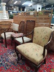 Sale 8601 - Lot 1536 - Set of Four Various Chairs