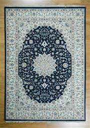 Sale 8643C - Lot 44 - Persian Nain Silk Inlaid 245cm x 170cm