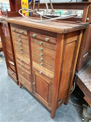 Sale 8684 - Lot 1080 - Early 20th Century Specimen Cabinet Made by J.A.Woods in Mosman
