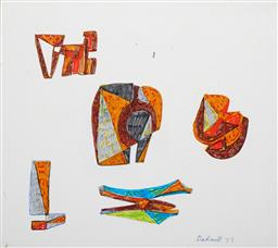 Sale 9103 - Lot 2057 - Lyndon Dadswell (1908-1986) (2 works) - Studies for Sculpture no.177 & no.178, 1977 20 x 33 cm ; 24.5 x 27 cm