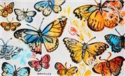 Sale 8959A - Lot 5027 - David Bromley (1960 - ) - Butterflies and Flowers 76 x 126 cm (sheet size)
