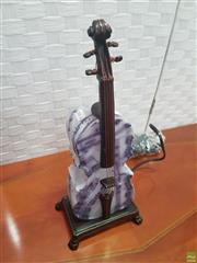 Sale 8620 - Lot 1080 - Glass Cello lamp