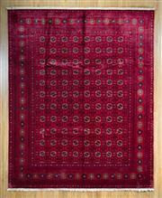 Sale 8653C - Lot 52 - Silk Afghan Bukhara 293cm x 238cm