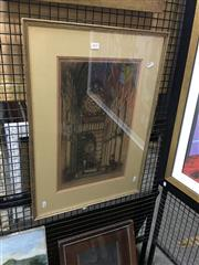Sale 8711 - Lot 2037 - Pair of Engravings - University Hall; Cathedral (framed/various sizes) -