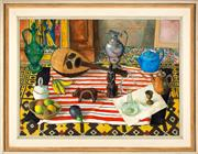 Sale 8440A - Lot 45 - Justin OBrien - Still Life with Mandolin 59 x 79cm