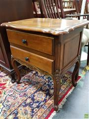 Sale 8570 - Lot 1027 - Inlayed Bedside Chest