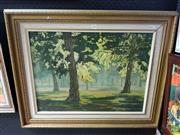 Sale 8587 - Lot 2098 - Harry Spira - Centennial Park Sydney, 1974, oil on board, frame size; 63 x 79cm, signed and dated lower right