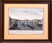 Sale 8625A - Lot 73 - A hand coloured engraving of Pont Neuf & Pont Des Arts.