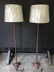 Sale 9034 - Lot 1021 - Pair of Metal Floor Lamps - 5792