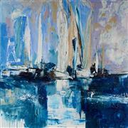 Sale 9084 - Lot 508 - Cheryl Cusick - Still Sailing 101.5 x 101.5 cm