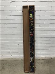 Sale 9092 - Lot 1003 - Good collection of vintage fishing flies in timber carry case (136cm)