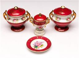 Sale 9107 - Lot 100 - A Group of Limoges Style Lidded Earthenware, possibly c1930