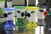 Sale 8288 - Lot 5 - Kosta Boda Ulrica Hydman-Vallien Set of 4 Egg Cups