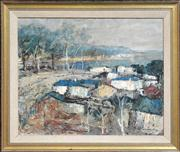 Sale 8286 - Lot 579 - George Feather Lawrence (1901 - 1981) - Narooma, N.S.W, 1969 40 x 50cm