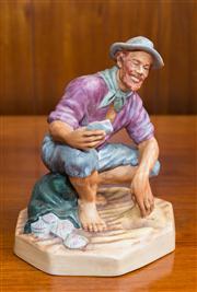 Sale 8313A - Lot 77 - A Royal Doulton figure, Beachcomber, porcelain bisque, HN 2487, height 16cm