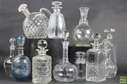 Sale 8508 - Lot 89 - Crystal Decanters incl Stuart