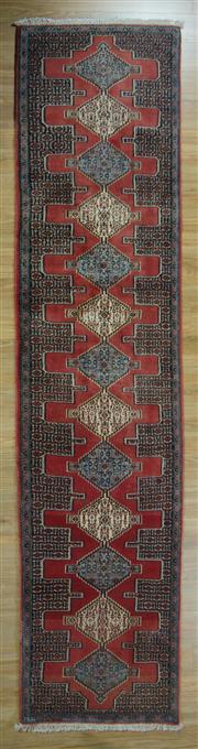 Sale 8643C - Lot 47 - Persian Bijar Runner 385cm x 80cm