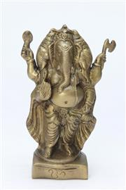 Sale 8667 - Lot 61 - Brass Elephant God (H:20cm)