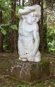 Sale 8677A - Lot 37 - Large fiberglass sculpture of Atlas H x 177cm