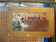 Sale 8663 - Lot 2106 - Hand Coloured Sydney Long Print, 24 x 66cm (mount size)