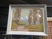 Sale 8707 - Lot 2066 - R.Parsons - River Scene, oil on board, SLR