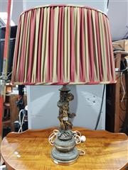 Sale 8777 - Lot 1060 - Metal Putti Form Table Lamp