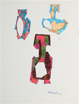 Sale 9103 - Lot 2058 - Lyndon Dadswell (1908-1986) (2 works) - Studies for Sculpture no.420 & no.421, 1975 - 1977 23 x 17.5 cm, each