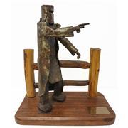 Sale 9002A - Lot 5052 - Norton Baxter - The Escape - Jerilderie 1879 h. 28cm, base: 26 x 14 cm