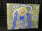 Sale 9041 - Lot 2038 - Marlene Smith Water Dreaming, Alice Springs acrylic on canvas 25.5 x 20cm -