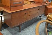 Sale 8338 - Lot 1088 - Younger Teak and Afromosia Sideboard by BV Wilkins