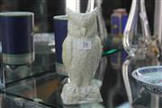 Sale 8348 - Lot 16 - Belleek Owl Vase 20cm