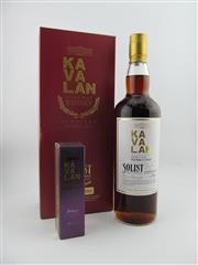 Sale 8423 - Lot 621 - 1x Kavalan Soloist Single Malt Sherry Cask Taiwanese Whisky - cask no. S090122070, bottle no. 161/506, 58.6% ABV, in box with sampler