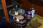 Sale 8509 - Lot 2223 - Group of Trinkets incl Le Jocam Ceramic Jewellery Box