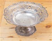 Sale 8550H - Lot 99 - A sterling silver pierced bon bon dish, hallmarked for Chester, diameter 20 x H 10cm