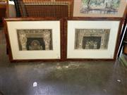 Sale 8663 - Lot 2118 - Pair of Italian Engravings, Fireplace Designs, 50 x 70cm, each