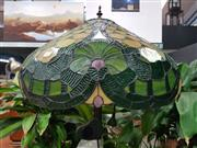 Sale 8672 - Lot 1012 - Leadlight Shade Standard Lamp