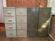 Sale 8804A - Lot 171 - Four filing cabinets, each with four drawers, each approx H 133 x W 45 x D 62cm